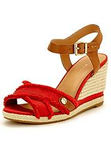 Emily Hessian Wedge Sandals