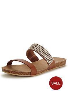 moda-in-pelle-nori-tan-jewel-slide-sandals