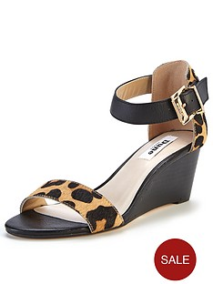 dune-katy-leopard-print-two-part-low-wedge-sandals