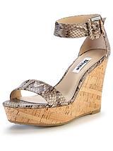 Karter Printed Ankle Strap Wedge Sandals