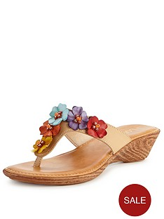 lotus-sicily-flower-wedge-mule-sandals