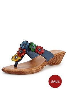 lotus-sicily-flower-wedge-mule-sandals