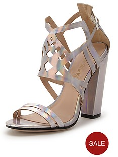 little-mistress-metallic-block-heeled-sandals