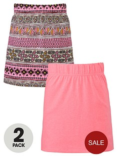 freespirit-girls-aztec-and-neon-tube-skirts-2-pack