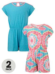 freespirit-girls-cut-out-shoulder-playsuits-2-pack