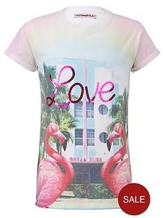 freespirit-girls-love-flamingo-sublimation-t-shirt