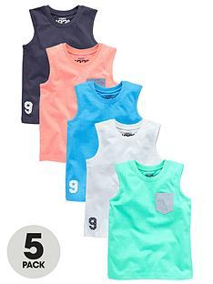 ladybird-boys-coloured-tanks-5-pack