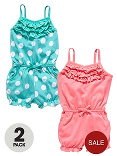 ladybird-girls-neon-jersey-playsuits-with-frills-2-pack-12-months-to-7-years
