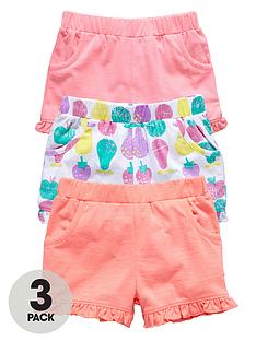 ladybird-girls-jersey-frill-printed-shorts-3-pack-12-months-to-7-years