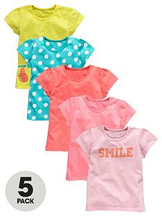 ladybird-girls-neon-and-printed-t-shirts-5-pack-12-months-to-7-years