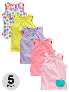 ladybird-girls-fruit-printed-vests-5-pack-12-months-to-7-years
