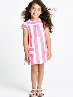 ladybird-girls-pink-neon-stripe-shift-dress-with-pockets-12-months-to-7-years
