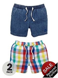ladybird-boys-shorts-denimcheck-2-pack