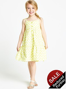 ladybird-girls-chevron-print-longline-dress