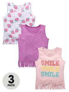 ladybird-girls-fashion-printed-fringe-trim-vests-12-months-to-7-years-3-pack