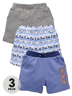 ladybird-baby-boys-star-and-aztec-shorts-3-pack