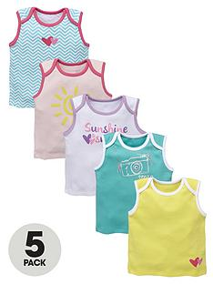 ladybird-baby-girls-sunshine-smiles-vest-5-pack