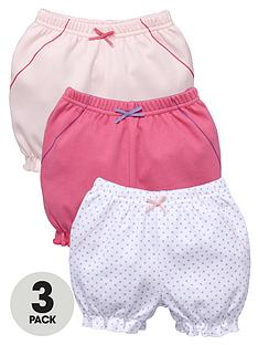 ladybird-baby-girls-spotty-and-colour-shorts-3-pack