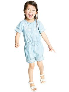 ladybird-girls-embroidered-chambray-playsuit