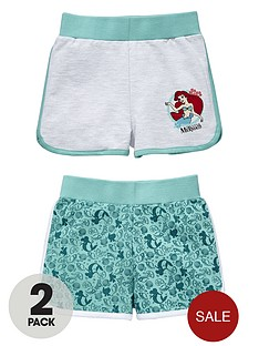 disney-little-mermaid-girls-mix-and-match-ariel-shorts-2-pack