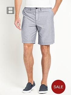 fred-perry-mens-polka-dot-chambray-shorts