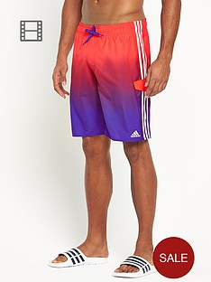 adidas-mens-3-stripe-fade-swim-shorts