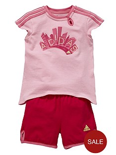 adidas-baby-girl-logo-shorts-set