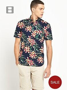 french-connection-mens-printed-short-sleeved-shirt