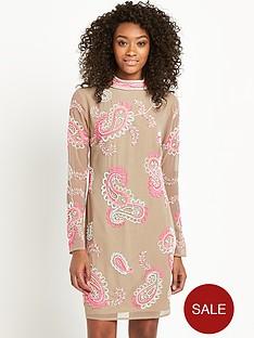 definitions-high-neck-embellished-dress