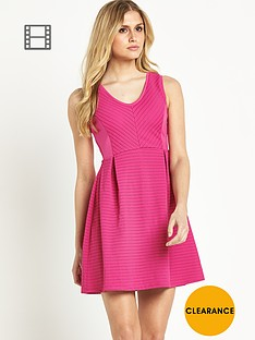 definitions-perforated-stripe-skater-dress