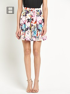 definitions-floral-floral-pleated-skirt