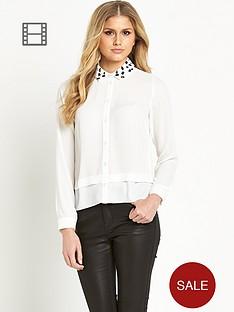 definitions-long-sleeved-embellished-dip-back-blouse