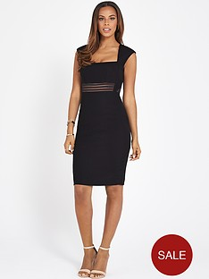 rochelle-humes-mesh-panel-pencil-dress