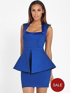 rochelle-humes-peplum-dress