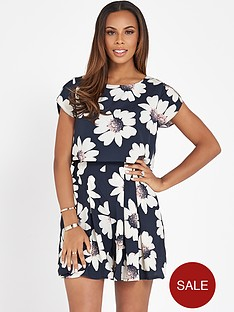 rochelle-humes-floral-printed-playsuit