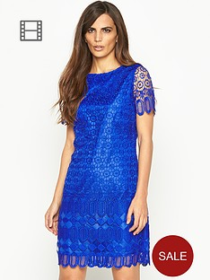 savoir-crochet-lace-shift-dress