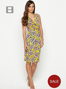 savoir-printed-sleeveless-crossover-dress