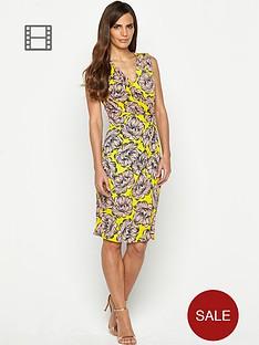 savoir-printed-sleeveless-crossover-dress