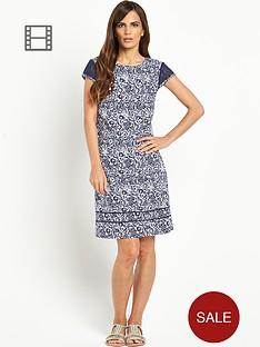 savoir-printed-linen-dress