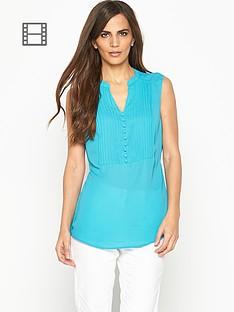 savoir-sleeveless-pintuck-blouse