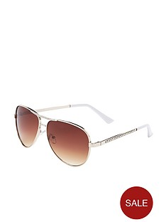 diamante-detail-aviator-sunglasses