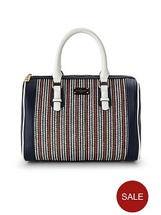 pauls-boutique-molly-bowler-bag-navy-stripe