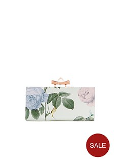 ted-baker-rose-print-crystal-bow-purse