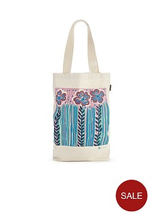 talented-zoe-badger-floral-canvas-tote-bag