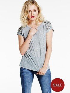fearne-cotton-shoulder-embellished-t-shirt