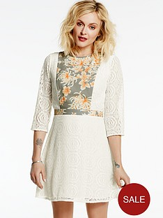 fearne-cotton-lace-dress-with-printed-bib-and-waistband