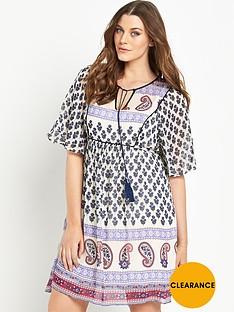so-fabulous-boho-print-tassle-tie-angel-sleeve-dress