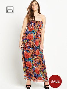 so-fabulous-print-gathered-bandeau-maxi-dress