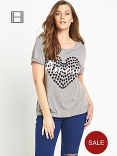 so-fabulous-amour-heart-print-turn-back-cuff-tee