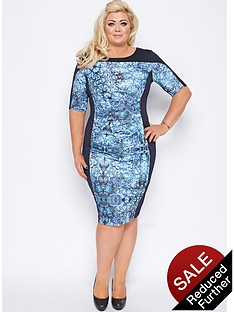 gemma-collins-salerno-panelled-midi-dress